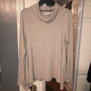 Tan sweater tunic - Knox rose - Large
